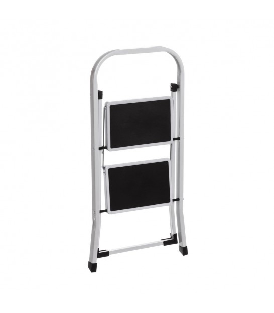Metal 2 Steps Ladder White and Blue