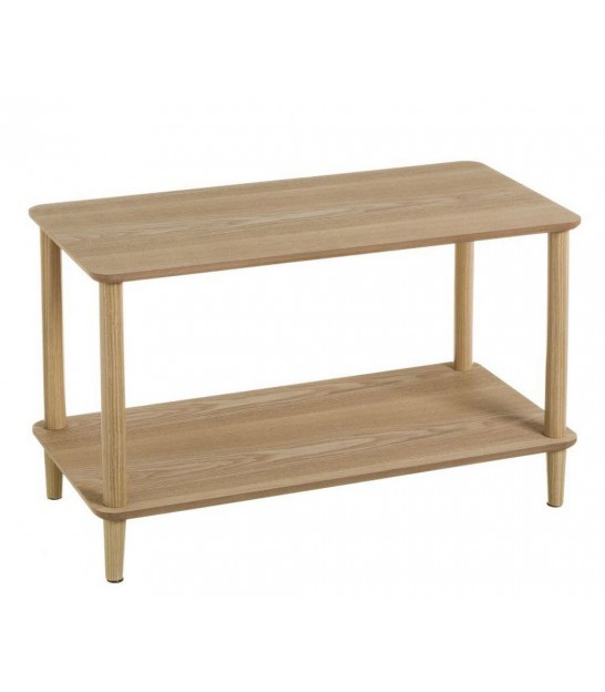 Coffee Table 2 Trays Wood and Metal