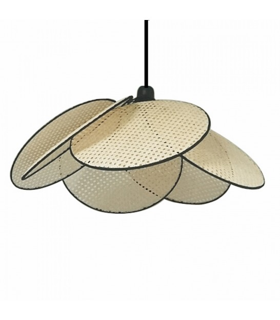 Ceiling Lamp Black Metal and White Glass - 10 Globes
