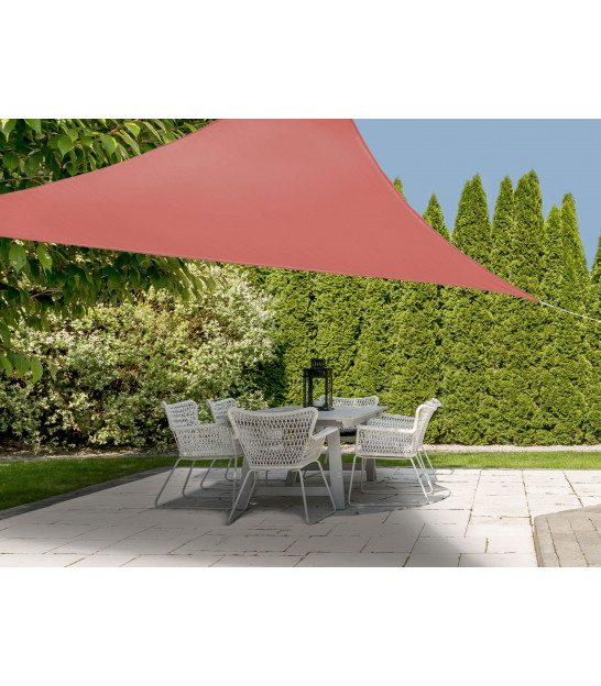 Toile Ombrage Triangulaire Rouge Tuile - 360x360x360cm