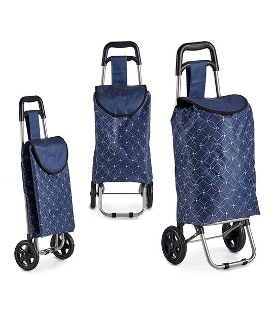 Shopping Trolley Blue and White