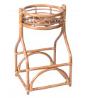 Plant Pot Stand Rattan - Height 65cm