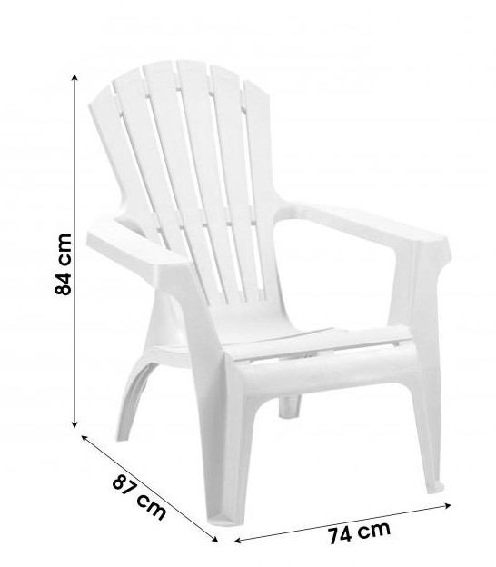 Garden Chair Grey Plastic