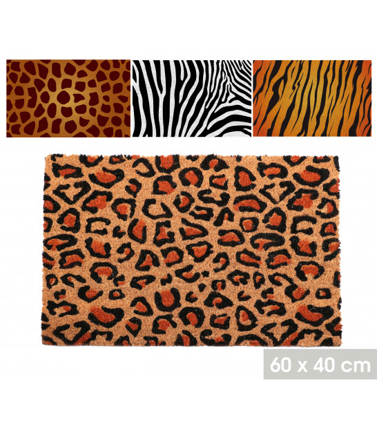 Set of 3 Coco Doormat Family and Home - 60x40cm