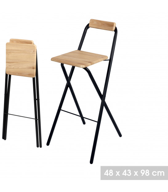 Bar Stool Metal and Blue Tissue