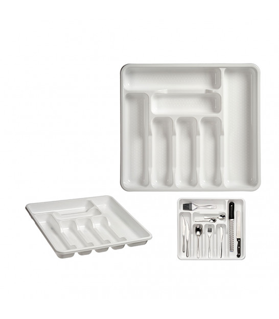 Grey Plastic Cutlery Tray 5 Compartments