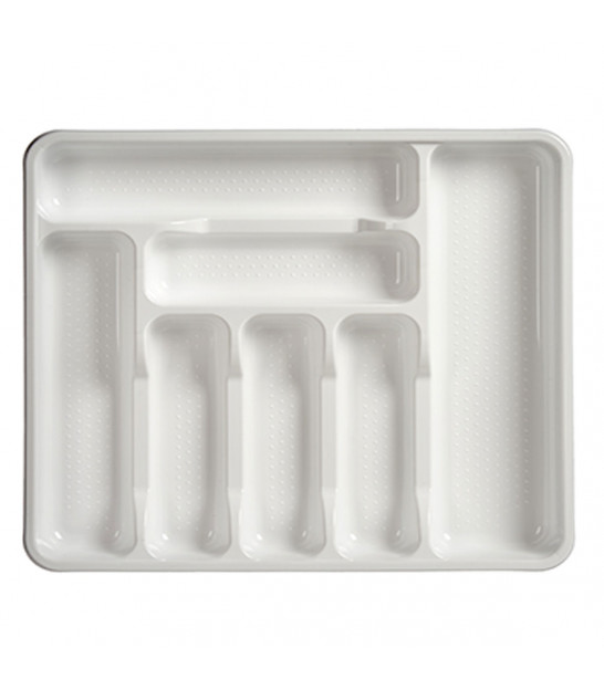 White Plastic Cutlery Tray 7 Compartments