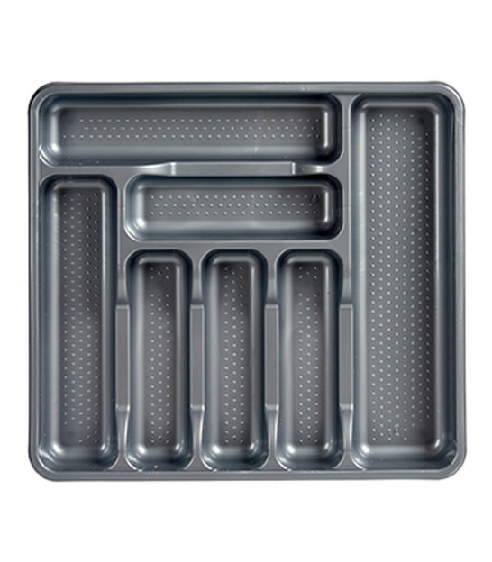 Grey Plastic Cutlery Tray 7 Compartments