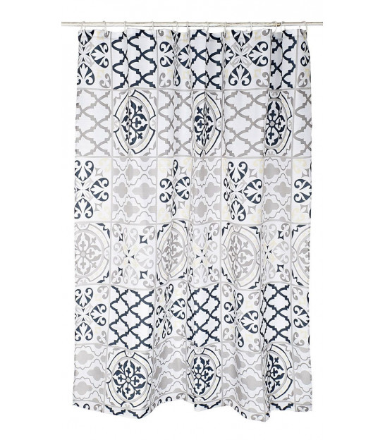 Shower Curtain Polyester Black and White Jungle- 180x200cm