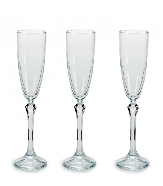 Set of 4 Champagne Flutes Monte Carlo 37cl