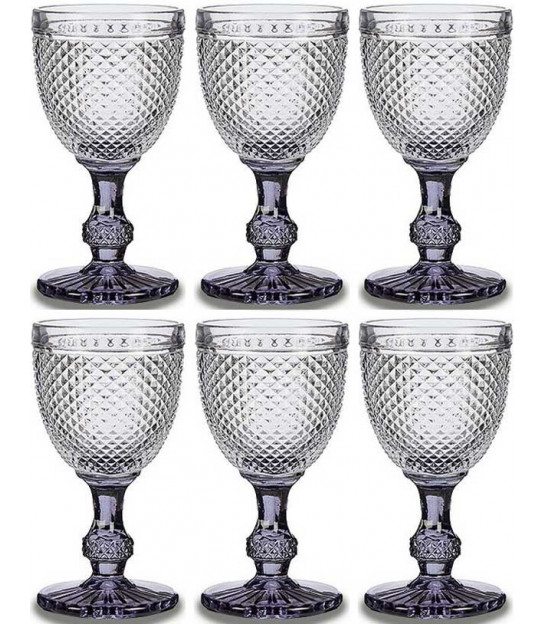 Set of 6 Water Glasses Diamond