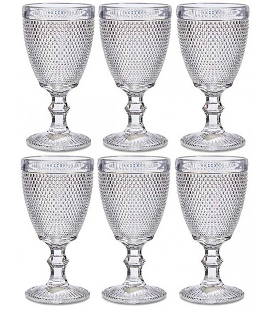 Set of 6 Wine Glasses Diamond