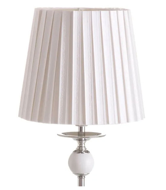 Table Lamp White Lampshade and Metal - H45cm