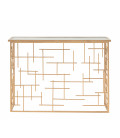Entrance Console Golden Metal and Mirror - 115.50cm