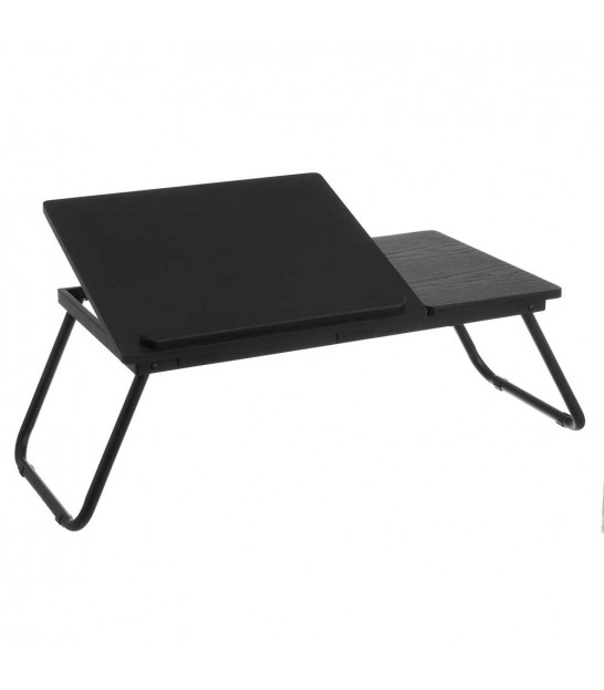 Wood and Metal Black Bed Tray