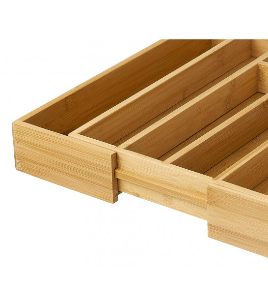 Wood Cutlery Tray Extensible