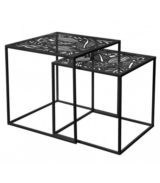 Nesting Table - MDF and White Metal