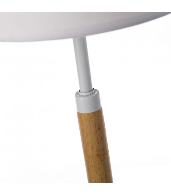 Table Lamp Bamboo and White Lampshade - H50cm