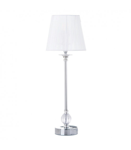 Table Lamp White Lampshade, Acrylic and Metal - H39cm