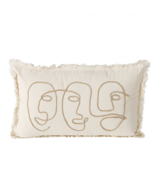 Set of 2 Cushions Black and White