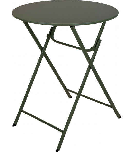 Green Round Garden Table Foldable