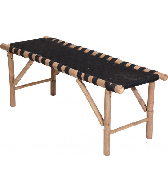 Wood and Rope Bench