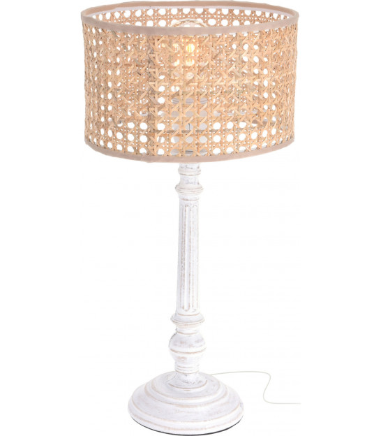 Set of 2 Table Lamps Wood and Metal