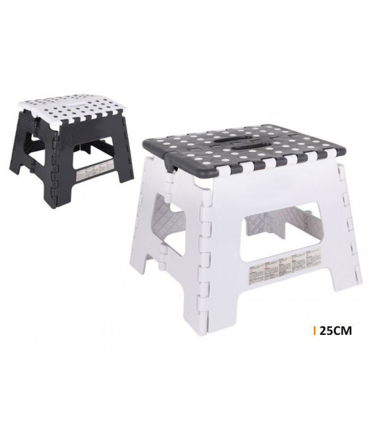 Black and White Foldable Step Plastic - Height 22cm