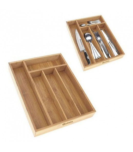Wood Cutlery Tray 5 Compartments