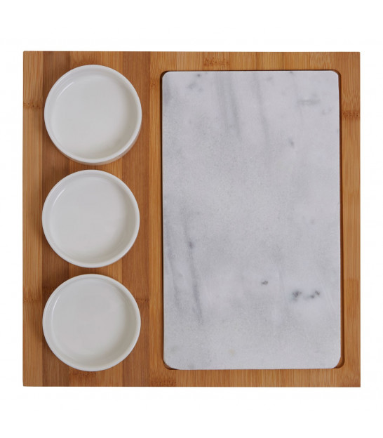Round Marble Lazy Susan
