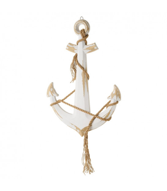 Decorative Anchor Wood MDF and Rope