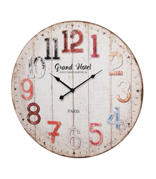 Wall Clock Multicolore Wood MDF Old Town