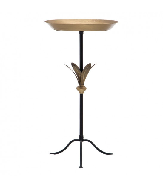 Gold Metal Side Table - 45x35x65cm