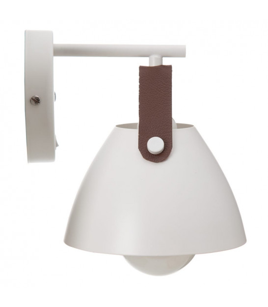 Wall Lamp Gold Metal and White Tissue Lampshade