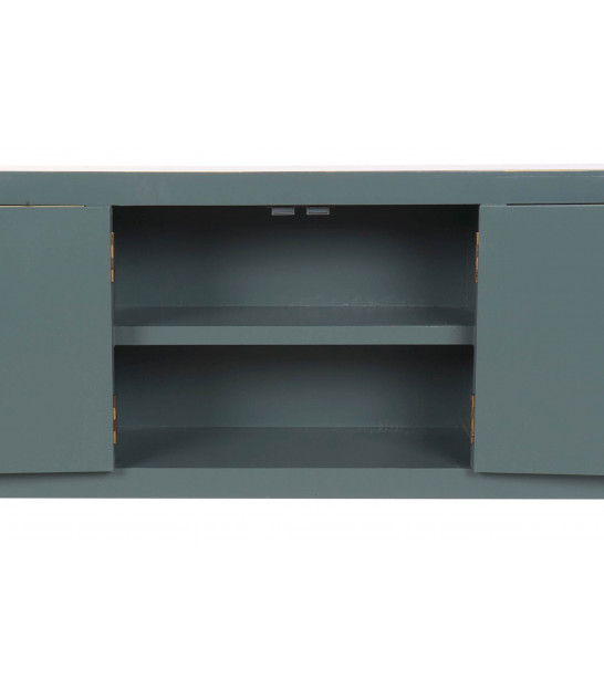 TV Stand Black and Red MDF Wood