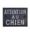 Wall Plate Cast Iron Attention au chien