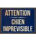 Wall Plate Metal Attention Chien Imprévisible