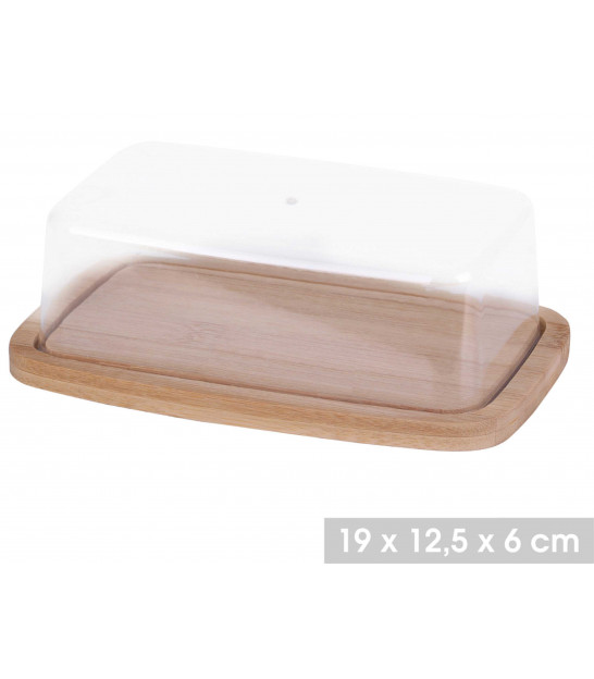 Acrylic and Wood Butter Dish