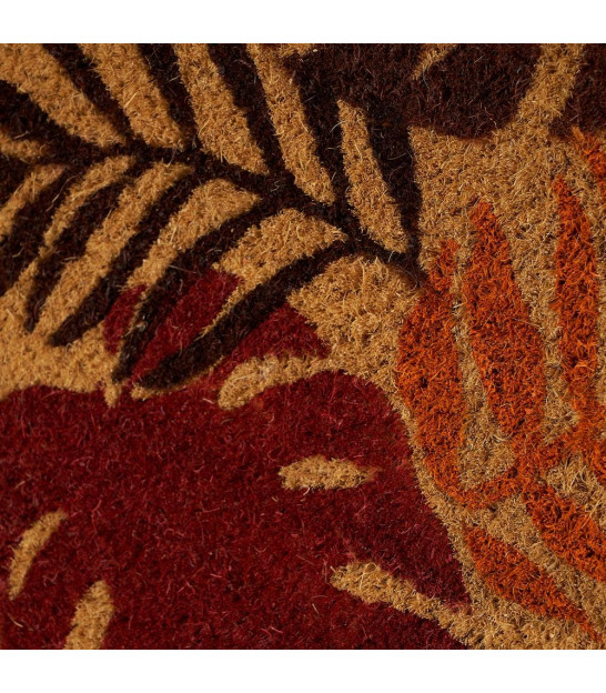 Coco Doormat Leaves Brown and Black - 60x40x1.5cm