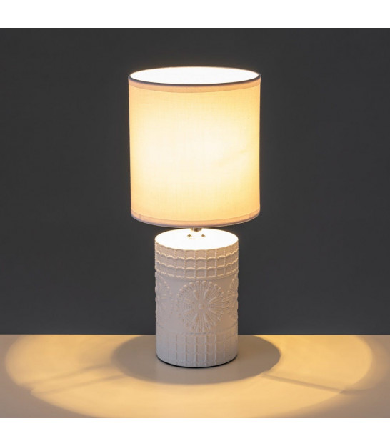 Table Lamp Pebble White Lampshade