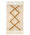 Carpet Beige Cotton and Polyester - 60x90cm