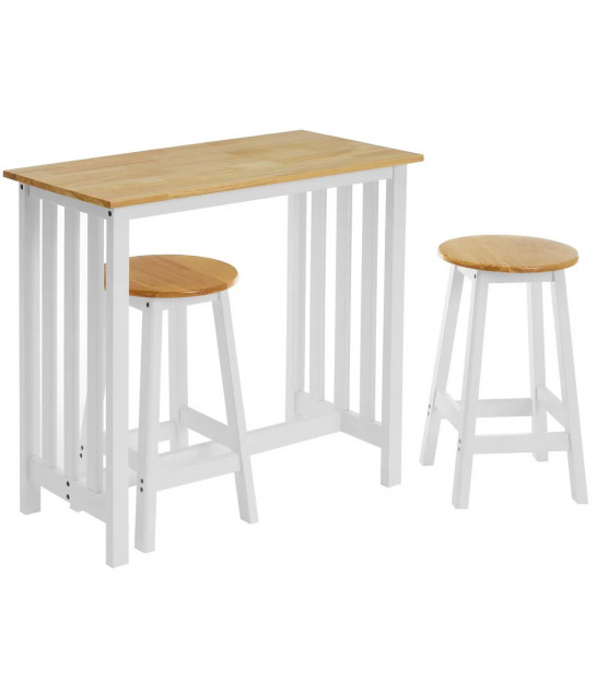 MDF Wood and White Metal Foldable Table
