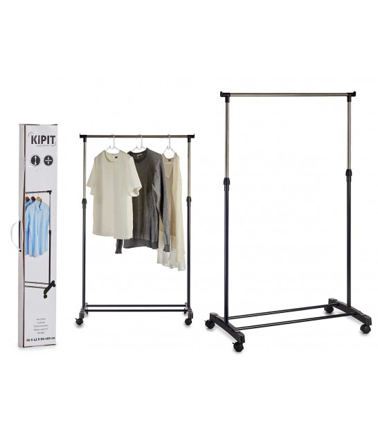 Chrome and Grey Clothes Hang Rail wth Shoe Rack