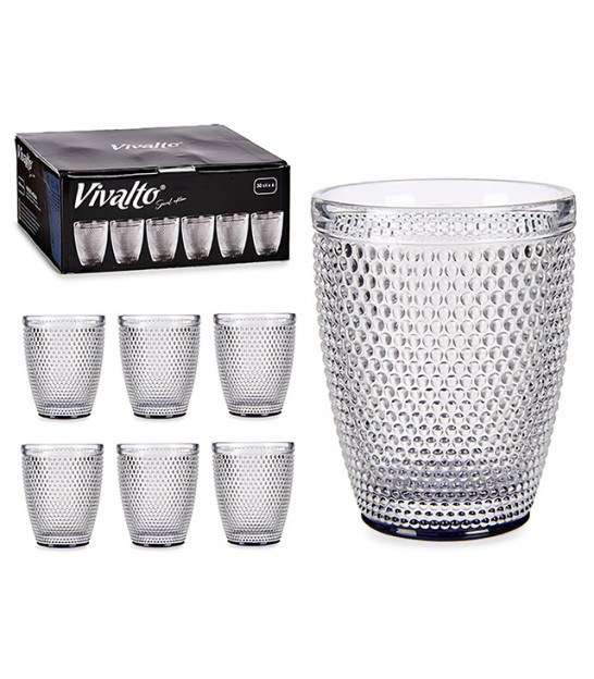 Set of 6 Water Glasses Points