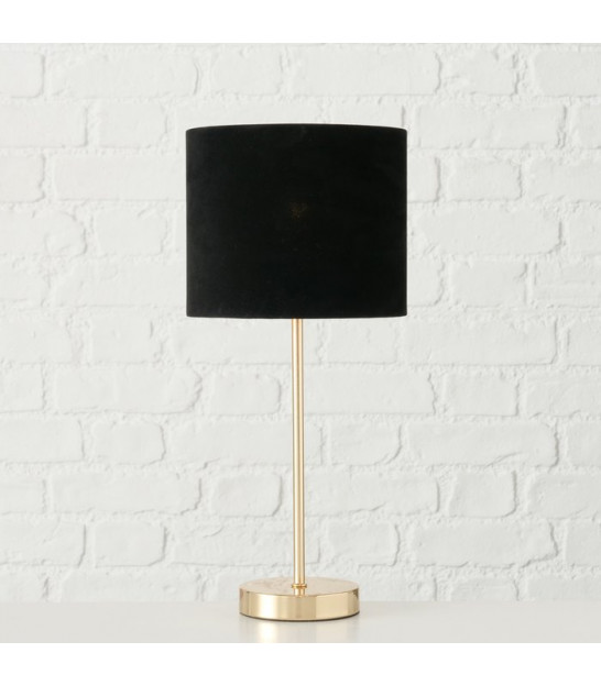 Table Lamp Black and Gold Polyresin Tucan