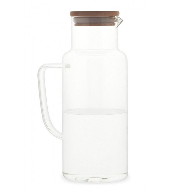 Fruit Juice Pitcher Glass and Bamboo - 2L