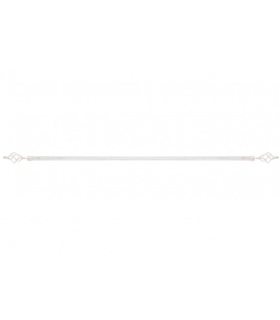 Curtain Rod Black and Gold Twist - 120 to 210cm