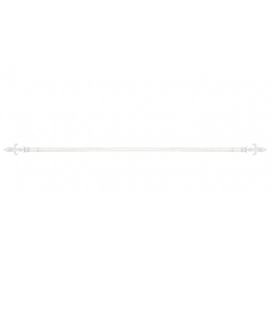 Curtain Rod White and Gold Leaves - 120 to 210cm