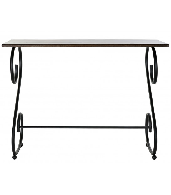 Console Table Black Metal and MDF World