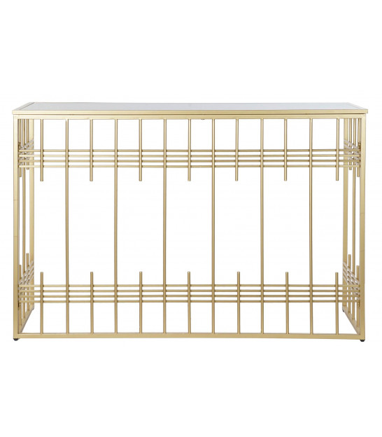 Entrance Console Golden Metal and Mirror